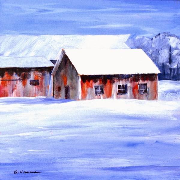 """""""Barn #25"""" original fine art by Anna Vreman"""