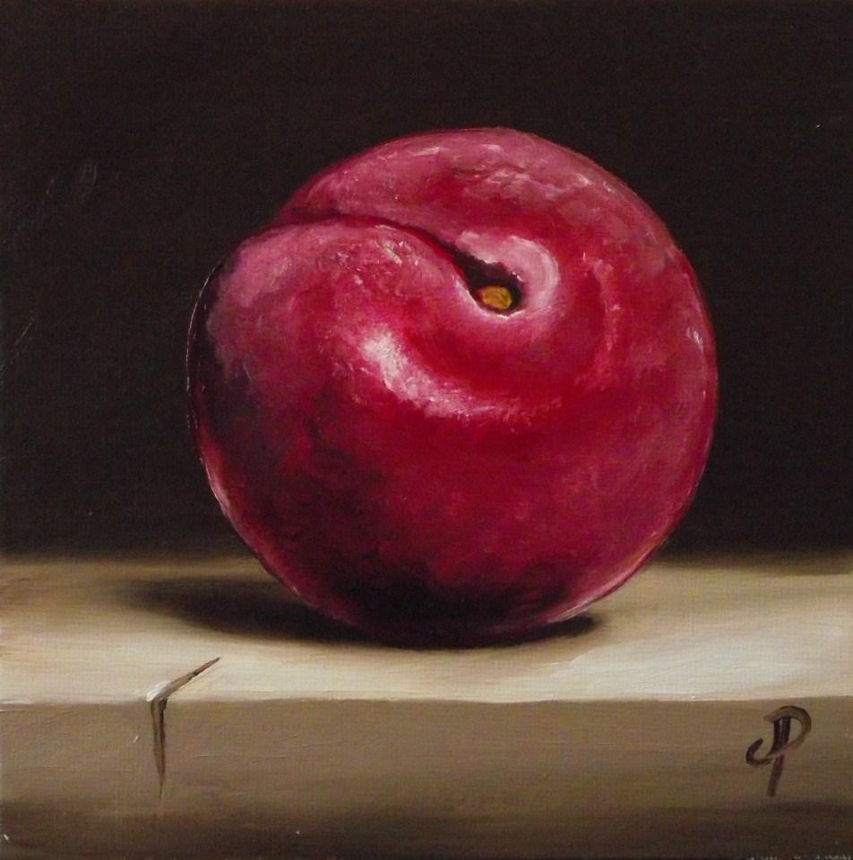 """Just a Plum"" original fine art by Jane Palmer"
