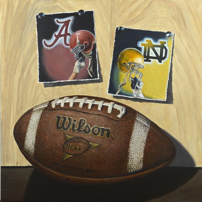 """""""College Game Day (Commission)"""" original fine art by Kim Testone"""