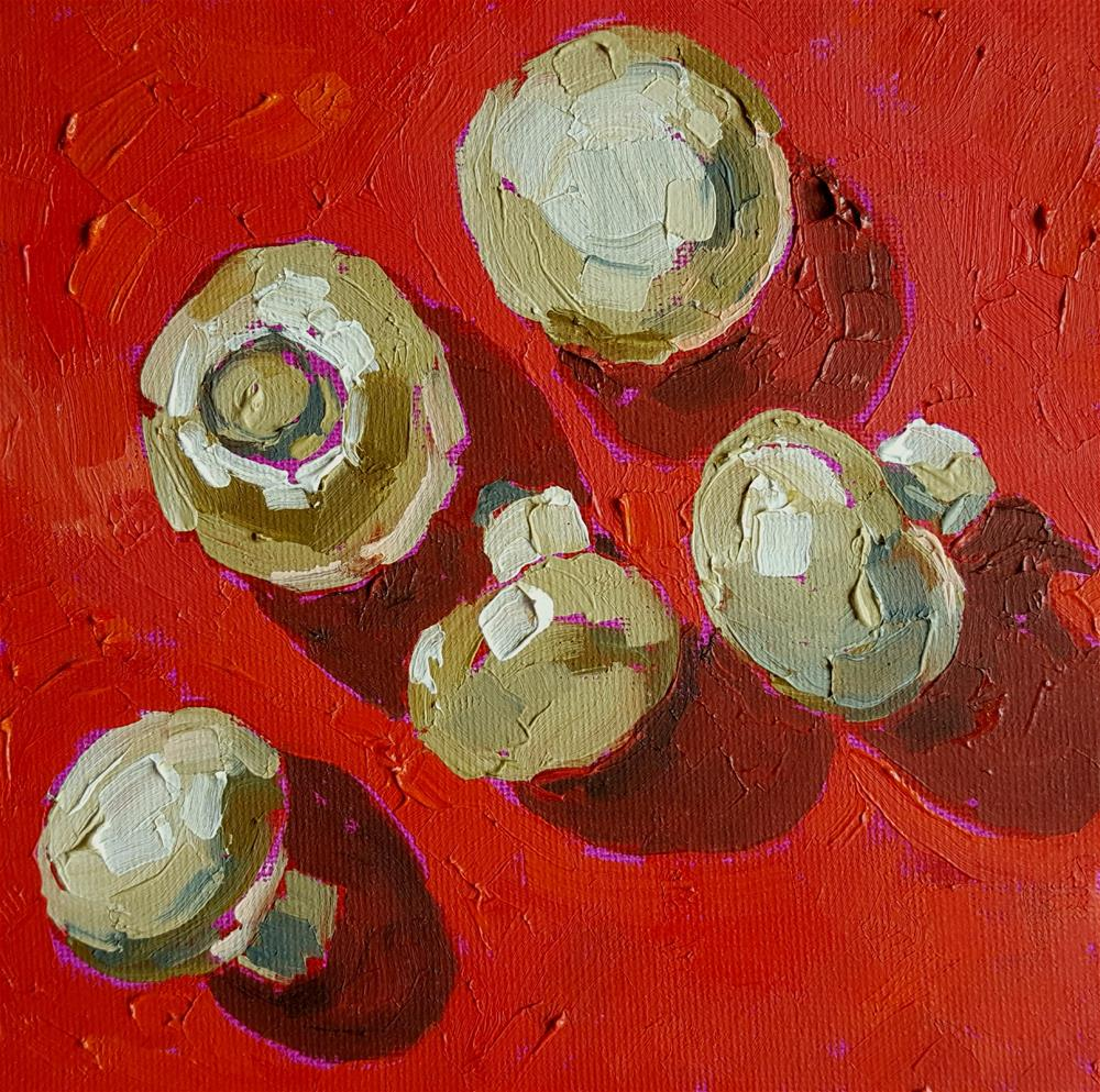 """""""Mushrooms"""" original fine art by Bhavna Misra"""