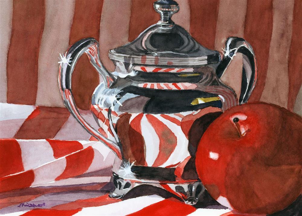 """""""Red in Sliver"""" original fine art by Lynne Reichhart"""