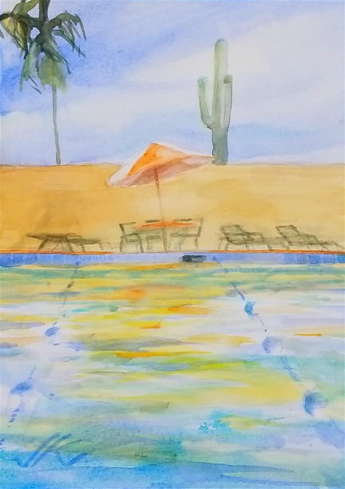 """Swimming Laps"" original fine art by Jean Krueger"