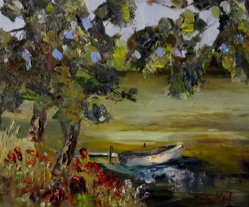 """Rivers Edge"" original fine art by Delilah Smith"