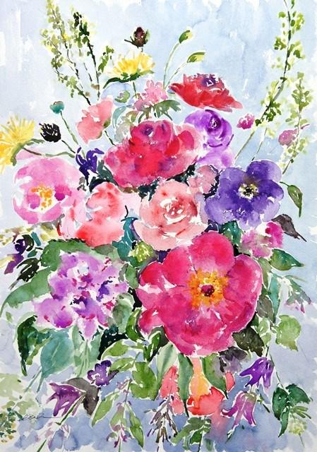 """""""Spring Blooming-2"""" original fine art by Lisa Fu"""