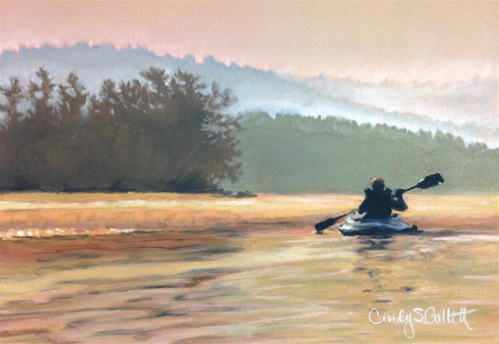 """""""An Evening On The Lake"""" original fine art by Cindy Gillett"""