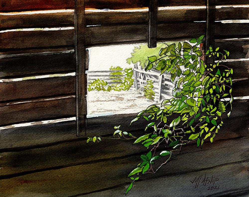 """Barn Window"" original fine art by Jeff Atnip"