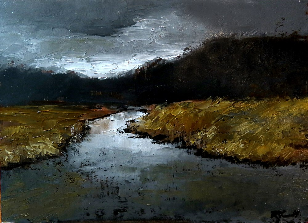 """Dark Marsh"" original fine art by Bob Kimball"