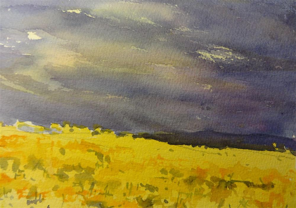 """""""Storm Coming II"""" original fine art by angela scully"""