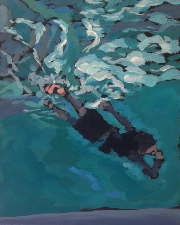 """""""The Diver"""" original fine art by Kat Corrigan"""