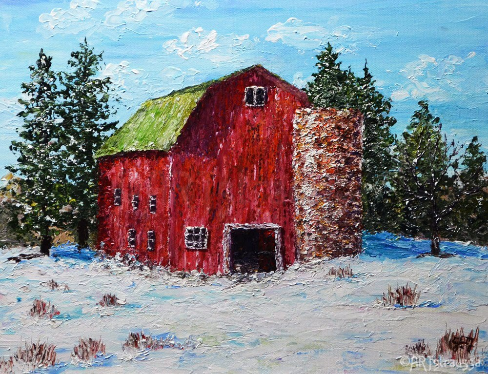 """Oakland Barn"" original fine art by Gloria Ester"