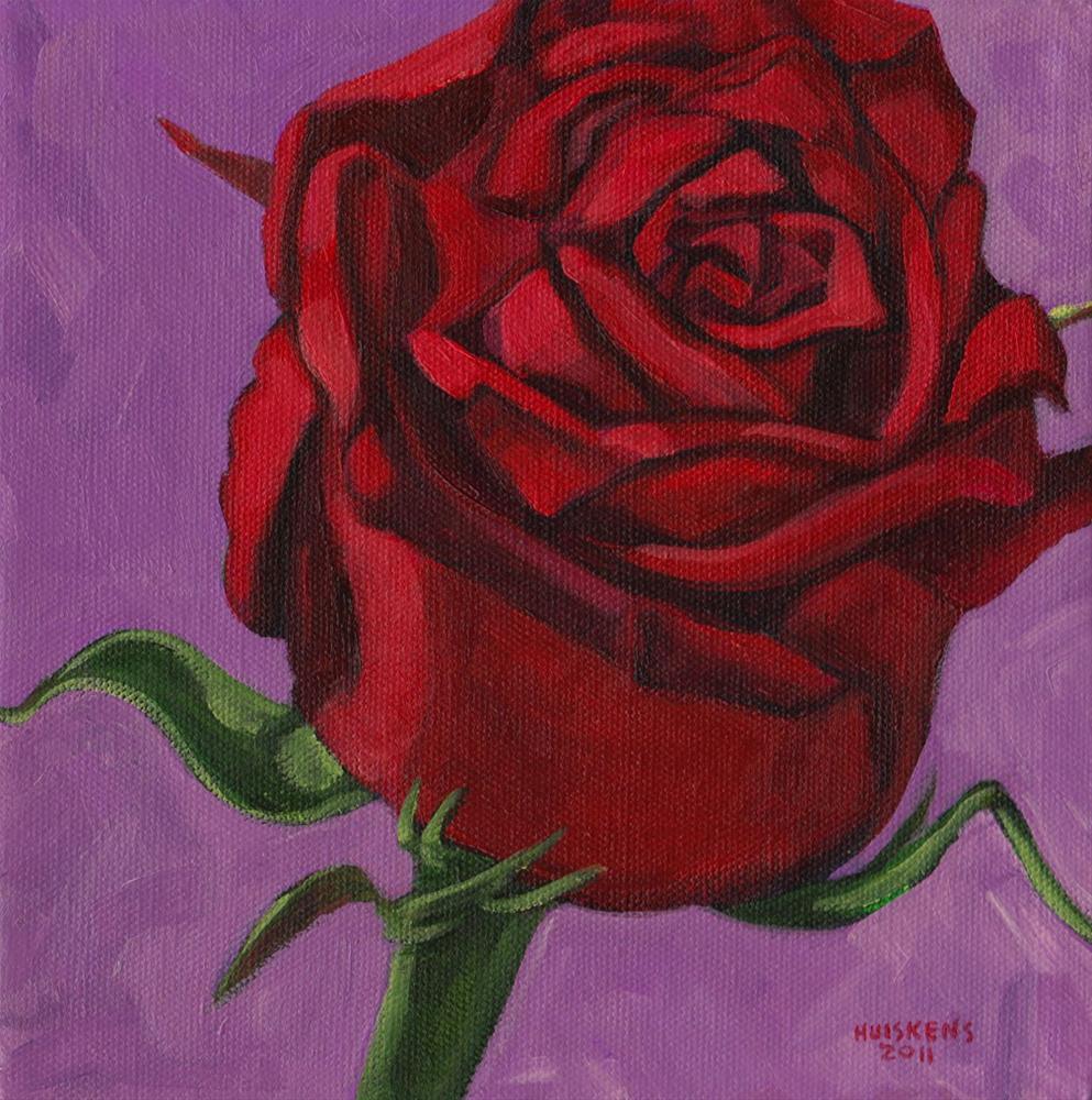 """Rose No. 2"" original fine art by Randal Huiskens"