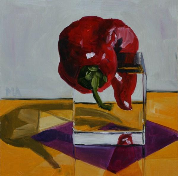 """Stretching"" original fine art by Aniko Makay"