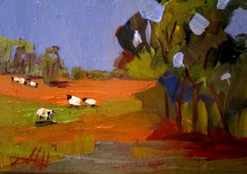 """Meadow Sheep"" original fine art by Delilah Smith"