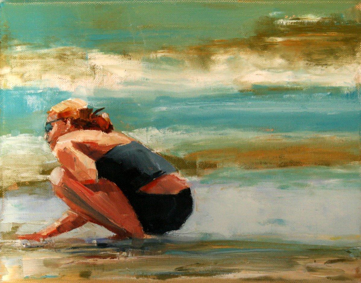 """testing the waters"" original fine art by Carol Carmichael"