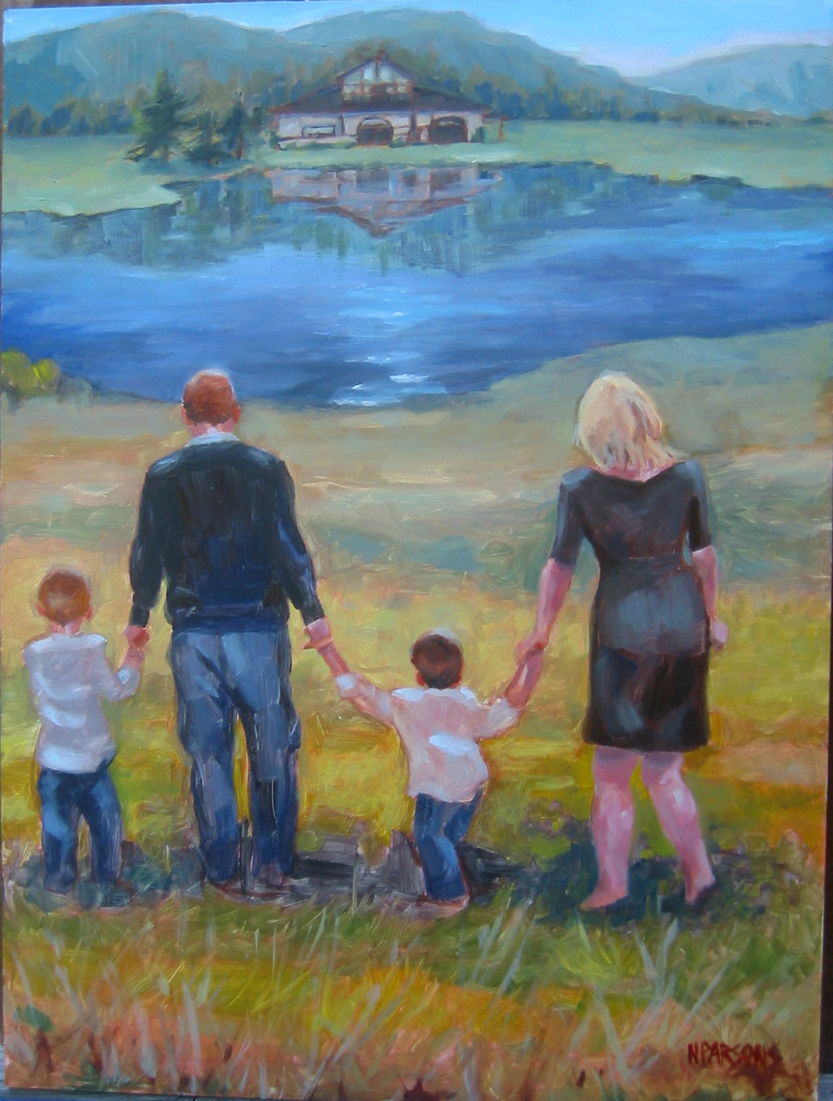 """""""Happily Ever After II"""" original fine art by Nancy Parsons"""
