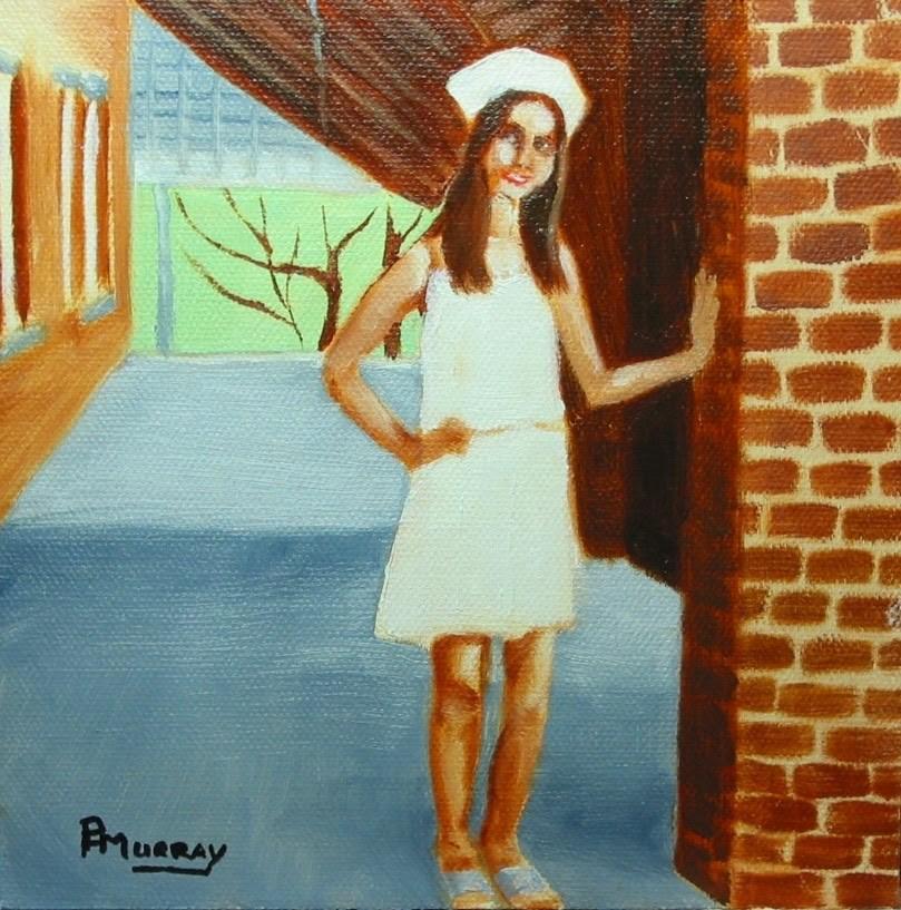 """Dannika"" original fine art by Patricia Murray"