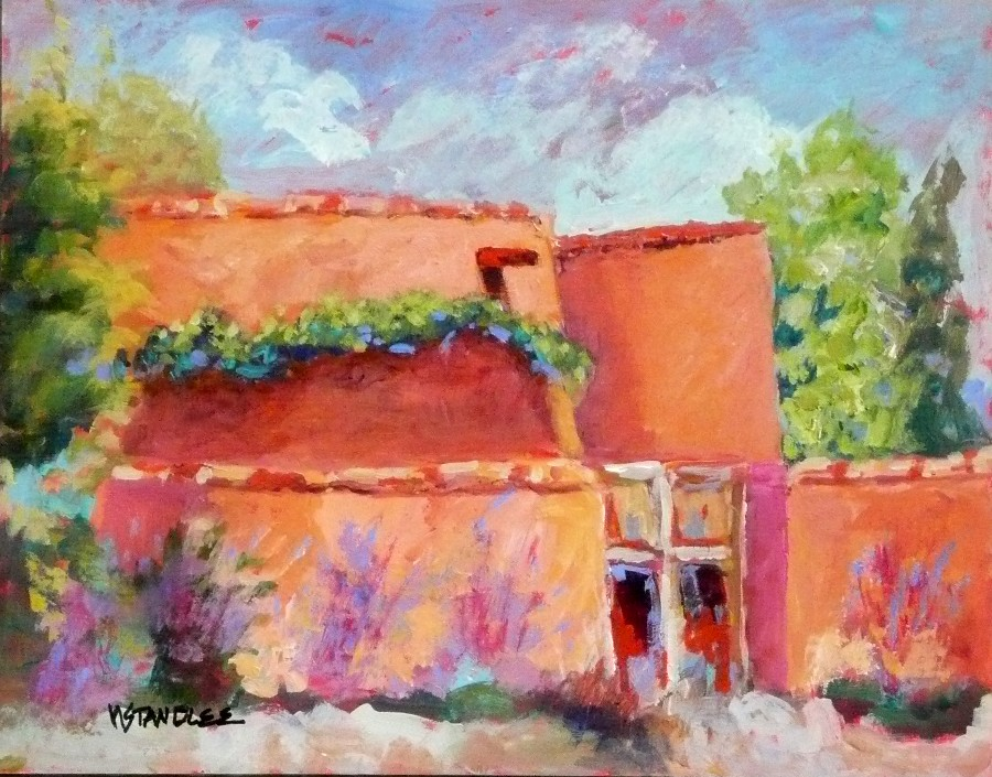 """Santa Fe Adobe 11071"" original fine art by Nancy Standlee"