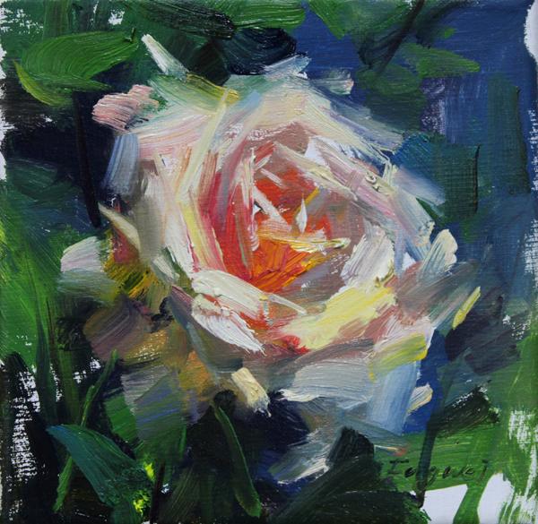 """""""Rose"""" original fine art by Fongwei Liu"""