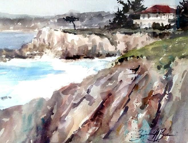 """Point Cabrillo View"" original fine art by Brienne M Brown"