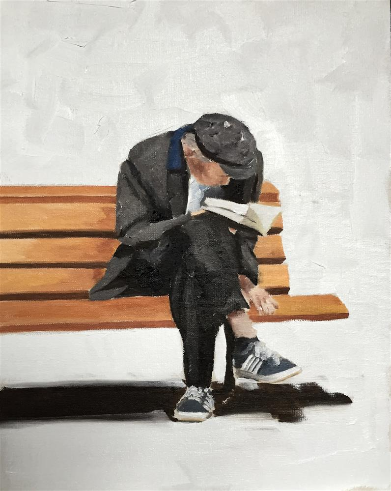"""The Reader"" original fine art by James Coates"
