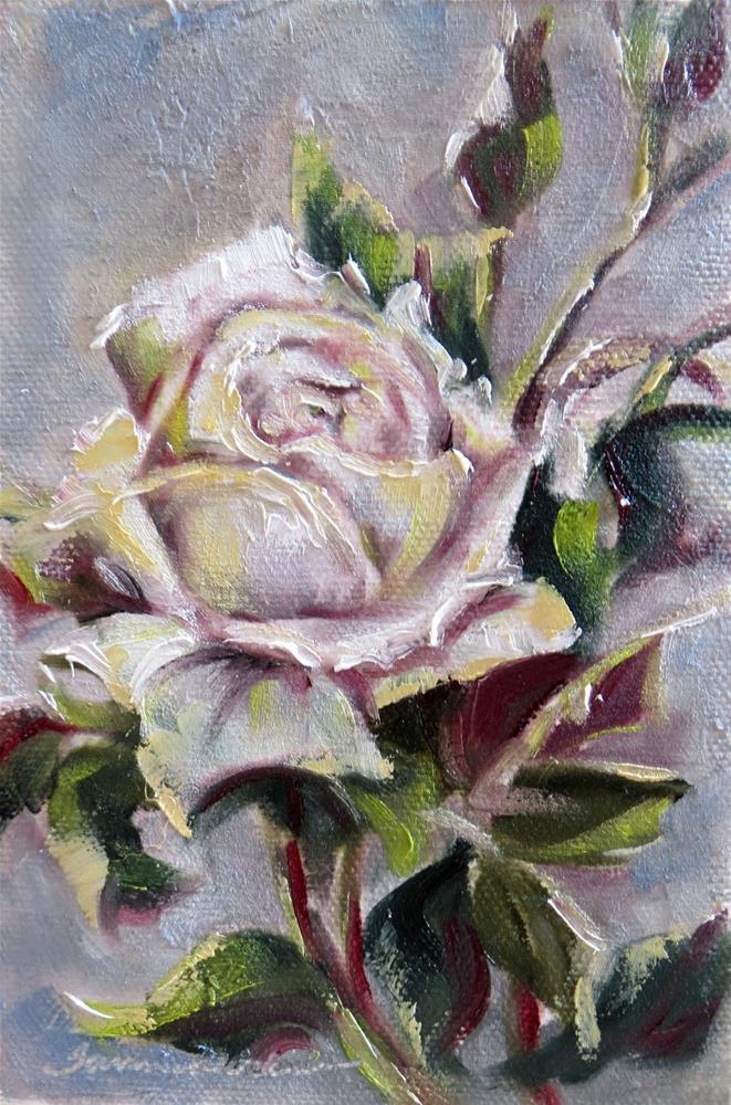 """Rose Study in White"" original fine art by Tammie Dickerson"