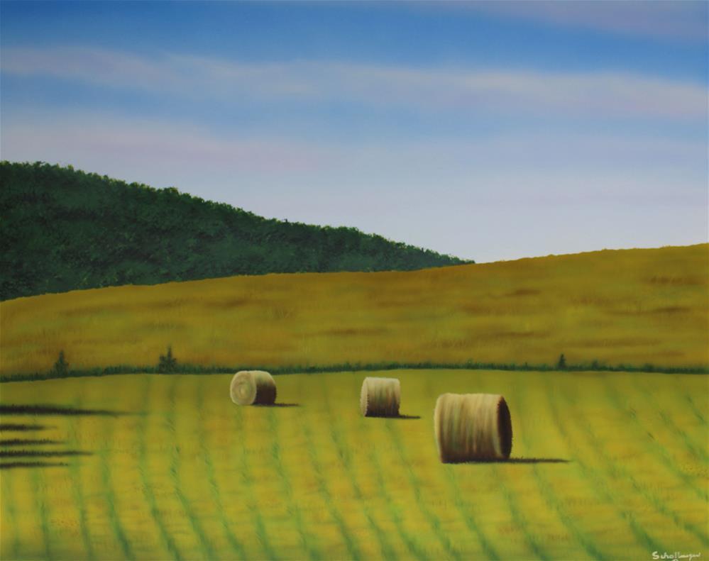 """Hayfield on Route K"" original fine art by Fred Schollmeyer"