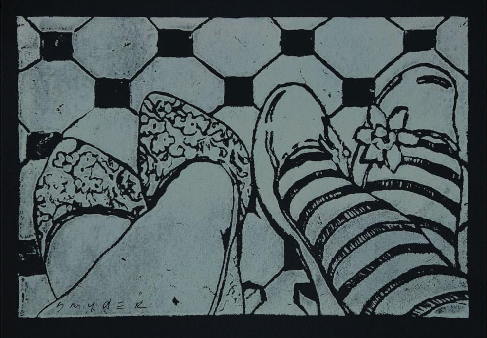 """""""Shoe Talk"""" original fine art by Julie Snyder"""