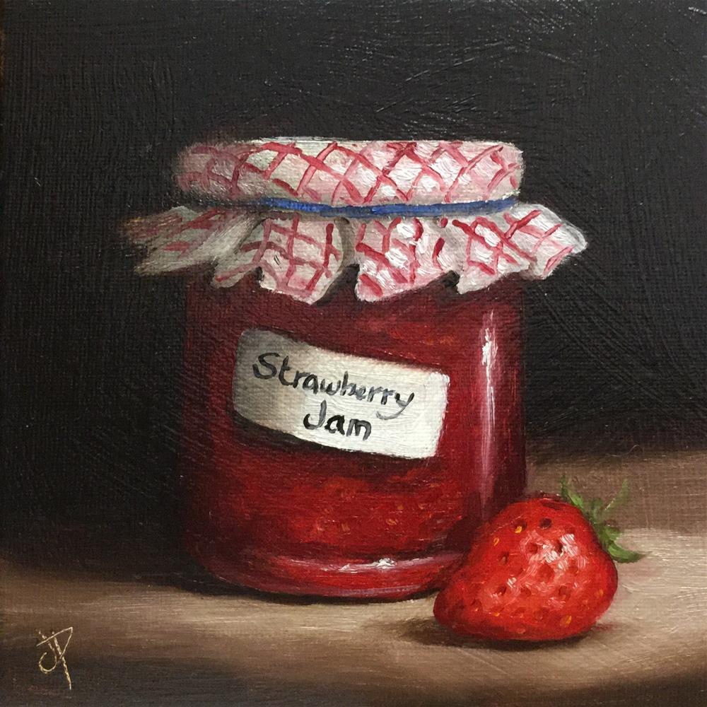 """""""Homemade Strawberry Jam"""" original fine art by Jane Palmer"""