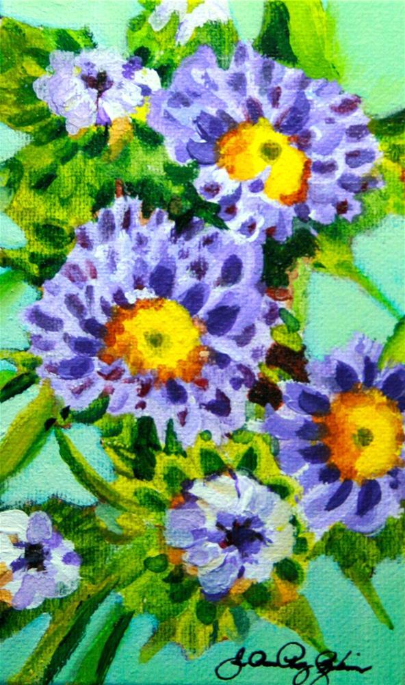 """Bachelor Buttons"" original fine art by JoAnne Perez Robinson"