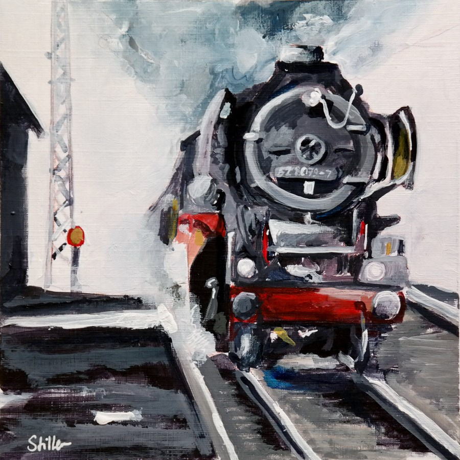 """2008 Steam Engine"" original fine art by Dietmar Stiller"