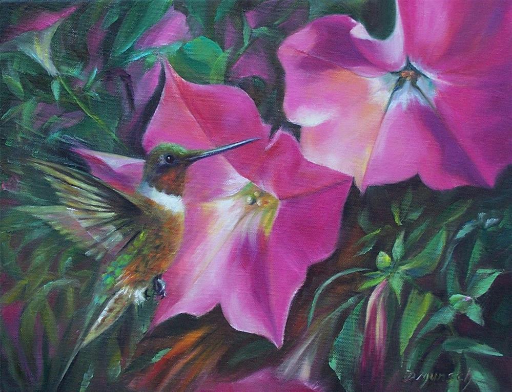 """""""Hummingbird"""" original fine art by Donna Munsch"""