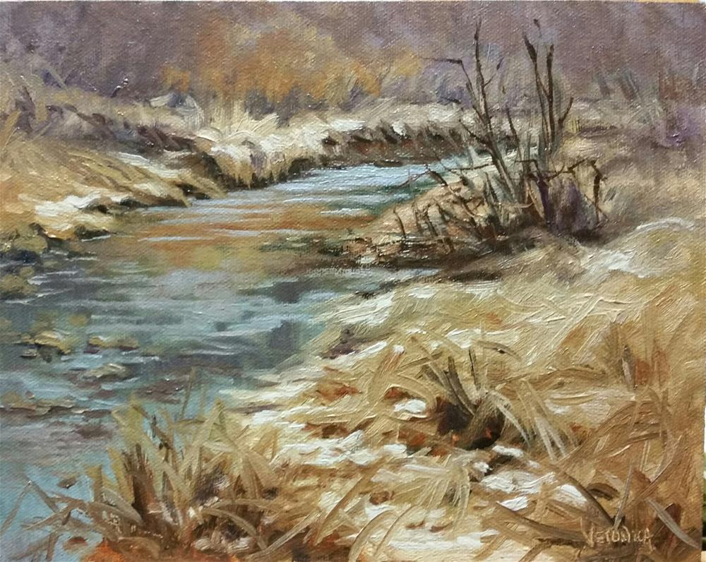 """Winter Colors"" original fine art by Veronica Brown"