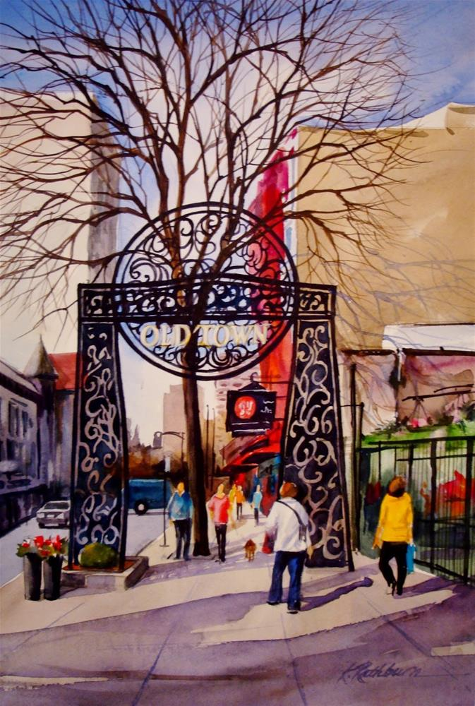 """The New Old Town"" original fine art by Kathy Los-Rathburn"