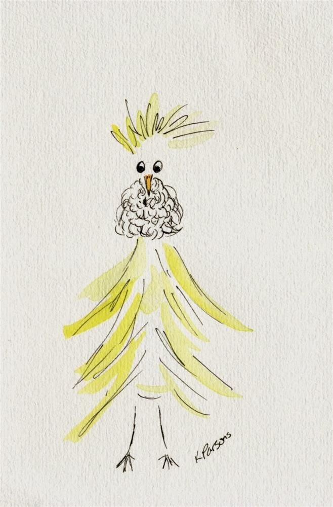 """""""Chicken with a Beard - American Cancer Society Fundraiser"""" original fine art by Kali Parsons"""