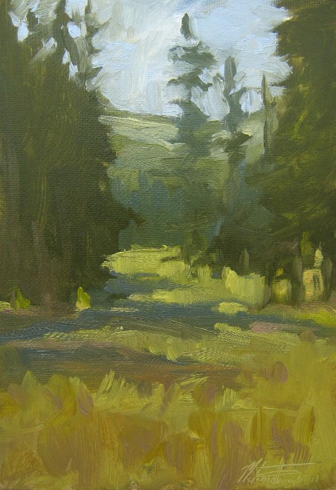 """""""Forest Shadows"""" original fine art by Melanie Thompson"""