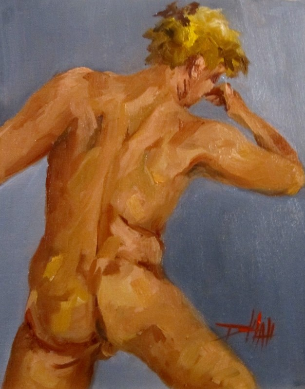 """Male Nude"" original fine art by Delilah Smith"