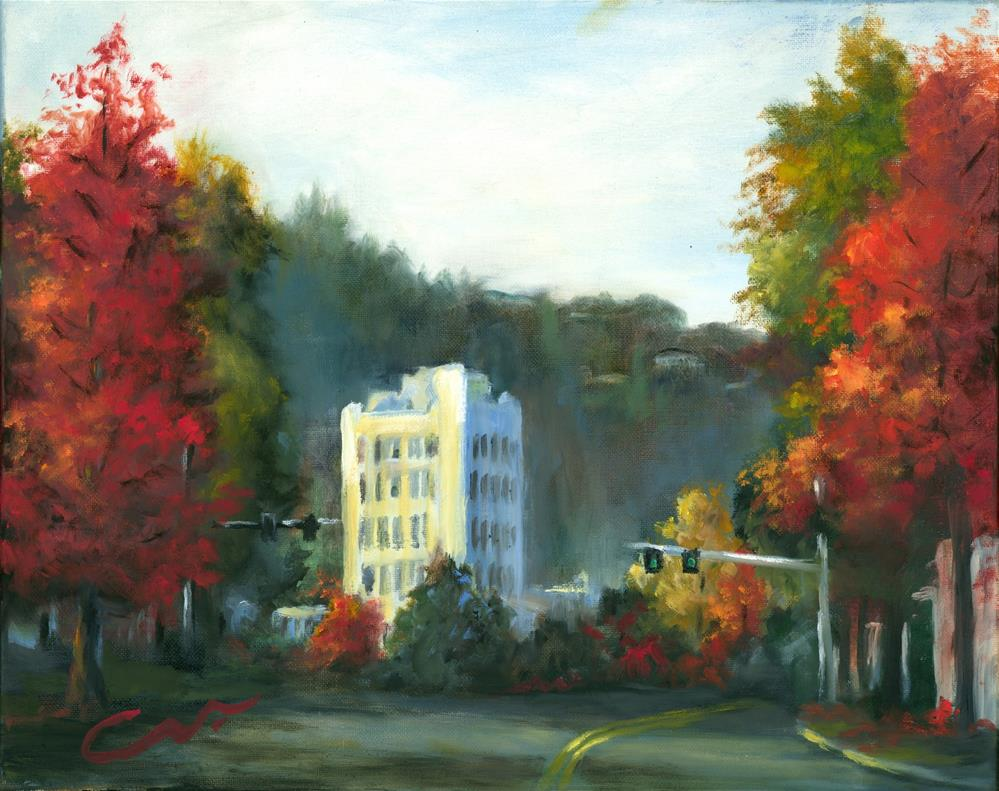 """The Ashland Hotel"" original fine art by Sharon Abbott-Furze"