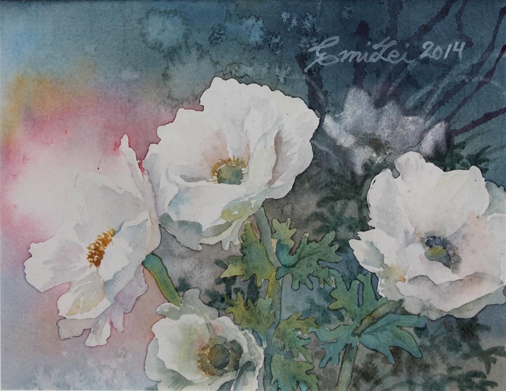 """Anemones II"" original fine art by Emilia Leinonen"