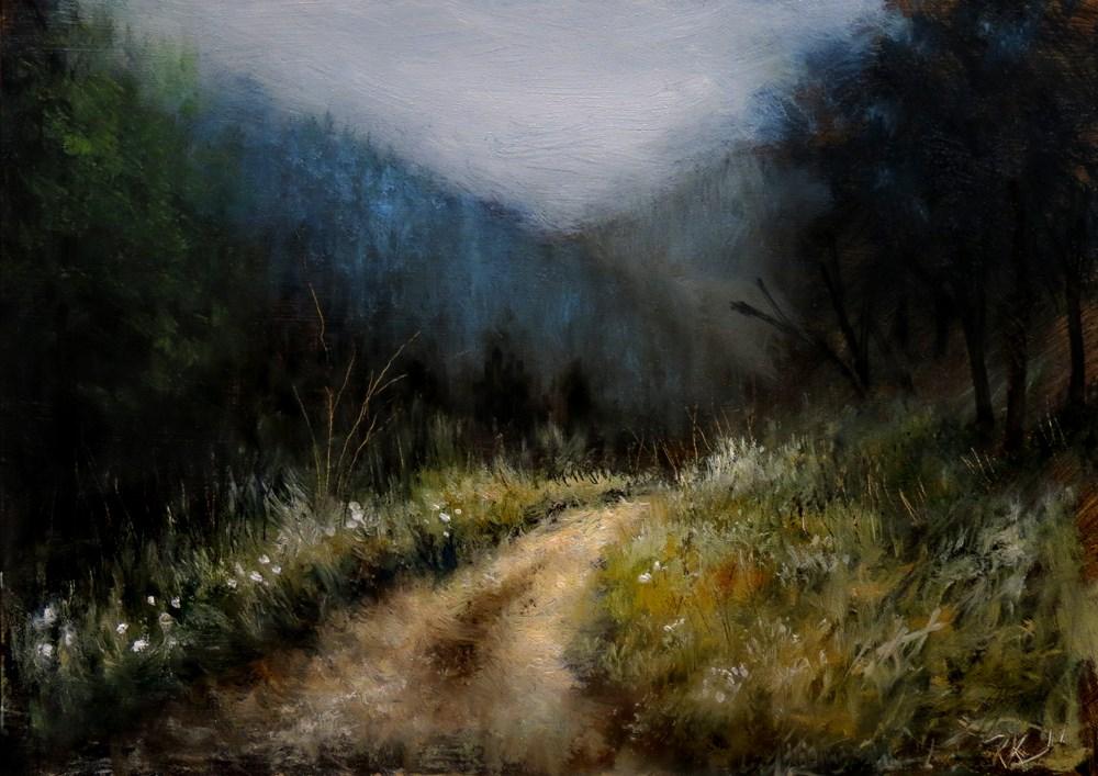 """""""Winding Path"""" original fine art by Bob Kimball"""