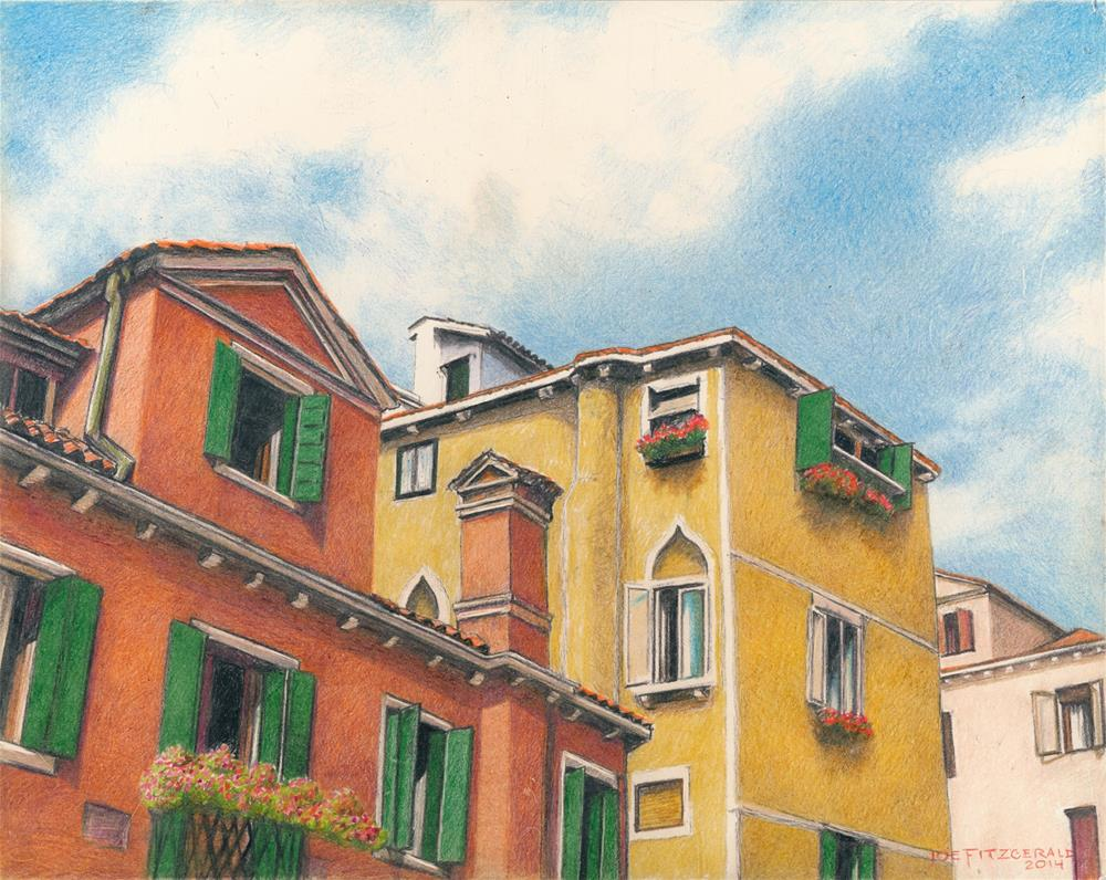 """Venice Rooftops"" original fine art by Joe Fitzgerald"