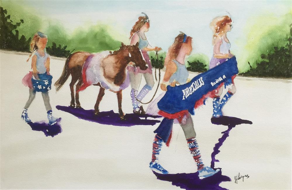 """Purcellville VA 2015  4th of july Parade"" original fine art by Juan Velasquez"