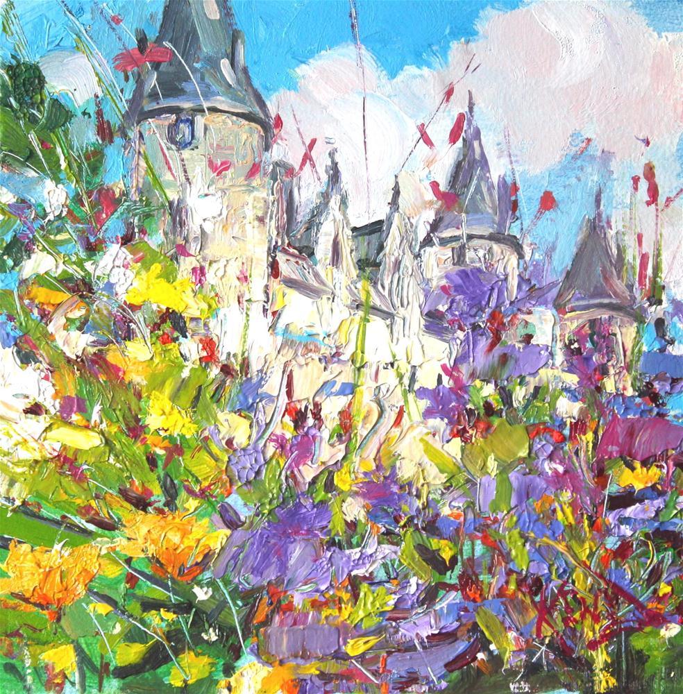 """""""Chateau Josselin"""" original fine art by Ken Devine"""