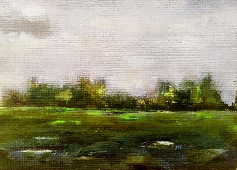 """Rainy Day Field"" original fine art by Gary Bruton"