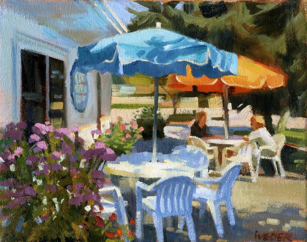"""Art at the Copley"" original fine art by Kathy Weber"
