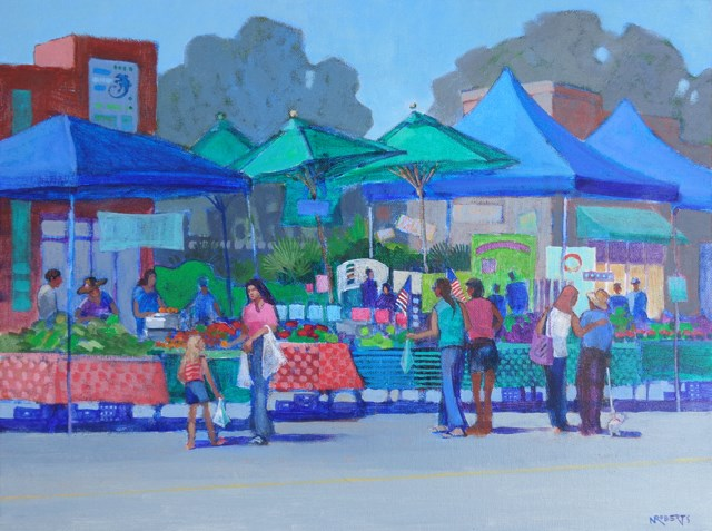 """May Market"" original fine art by Nancy Roberts"