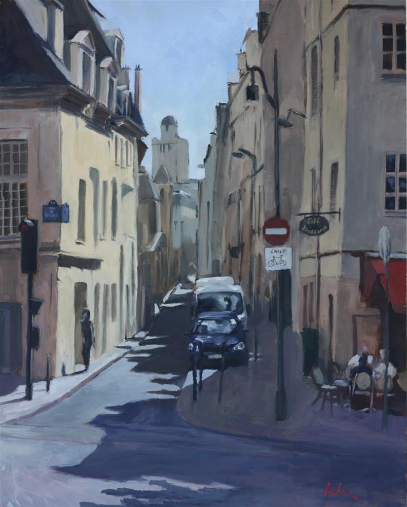 """Summer afternoon, the Left Bank"" original fine art by Graham Townsend"