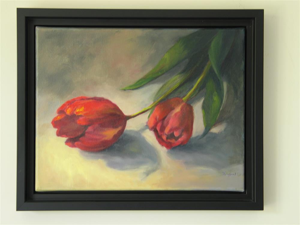 """A Pair of Tulips"" original fine art by Vikki Bouffard"