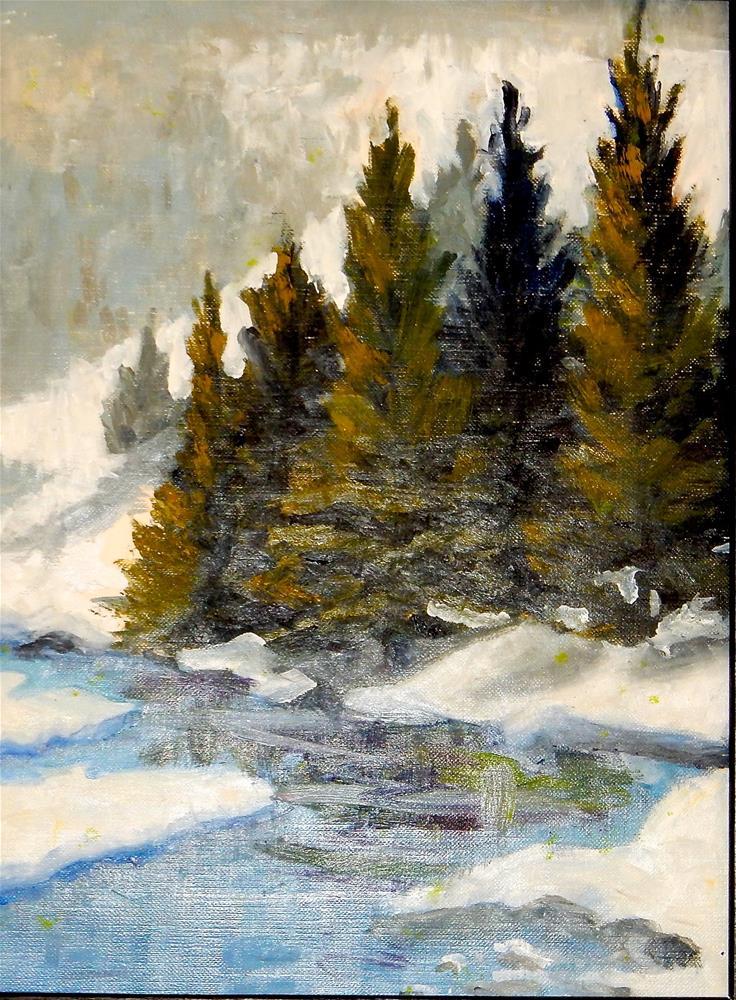 """Gore Creek - Vail"" original fine art by Phyllis Davis"