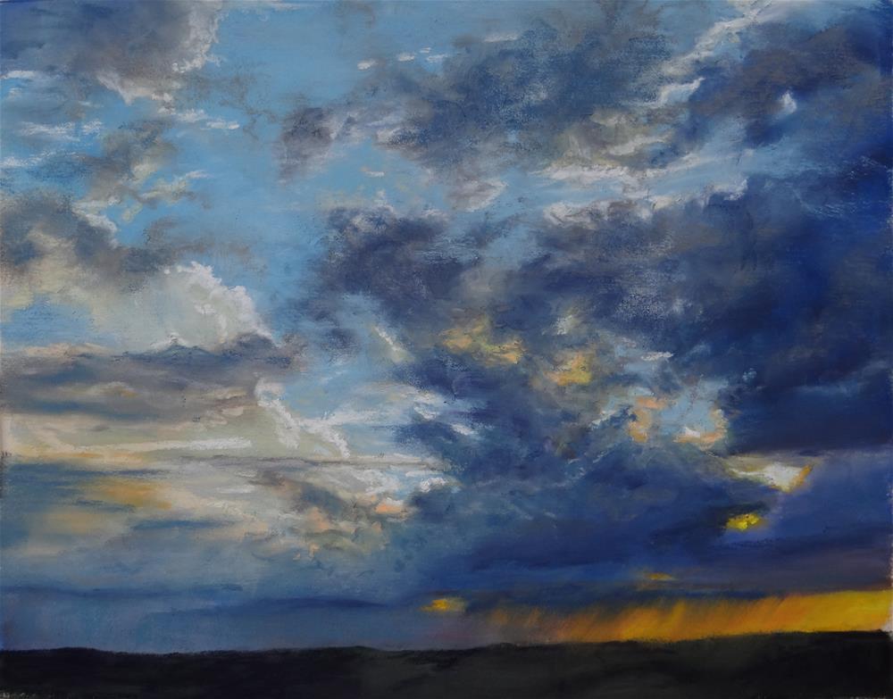 """""""Evening Storm"""" original fine art by Denise Beard"""