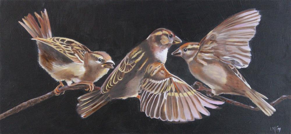 """Intercept, Bird Oil Painting"" original fine art by Linda McCoy"
